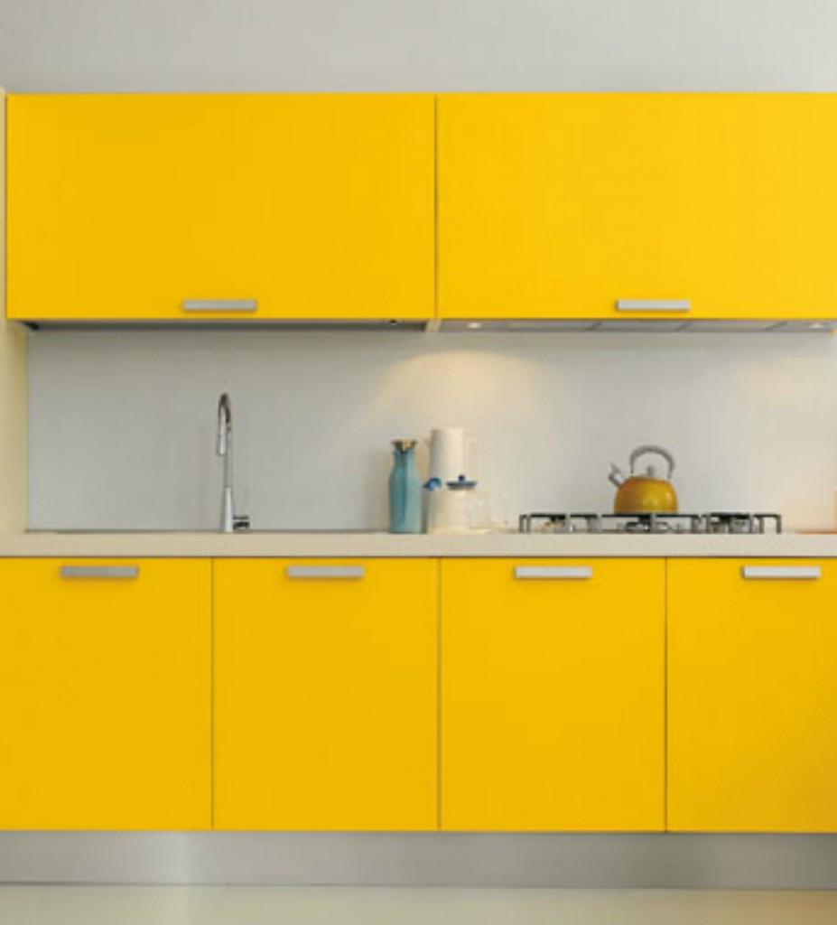 Cocinas blancas con colores - Cocinas amarillas ...