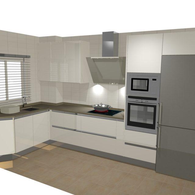 Dise os de cocinas en l cocinas artnova sevilla for Disenos de cocinas en l