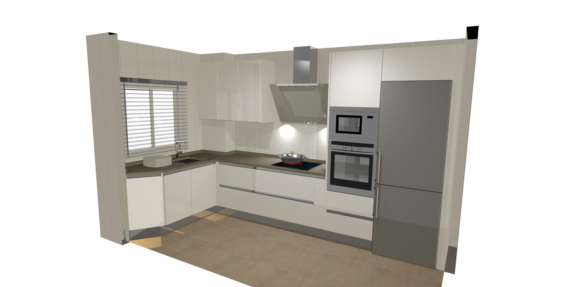 Dise os de cocinas en forma de l casa dise o for Cocinas en forma de l