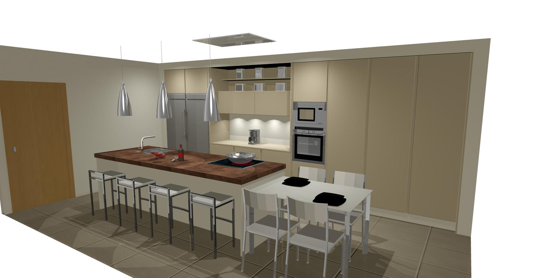Dise os de cocinas con isla cocinas artnova sevilla - Cocinas de diseno en sevilla ...