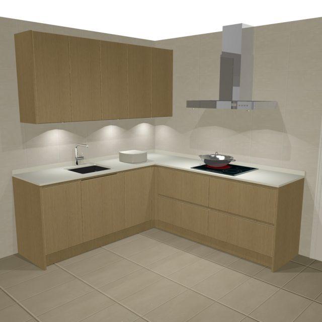 Dise os de cocinas en l cocinas artnova sevilla for Modelos de cocinas en l