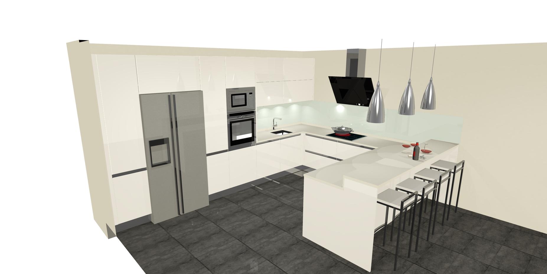 Dise os de cocinas con pen nsula cocinas artnova sevilla for Diseno cocina en l