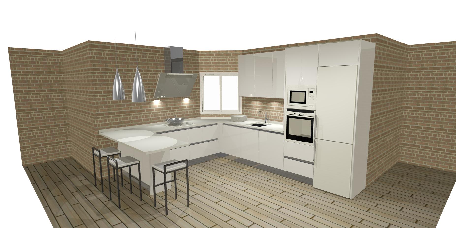 Dise os de cocinas con pen nsula cocinas artnova sevilla for Disenos de cocinas en l