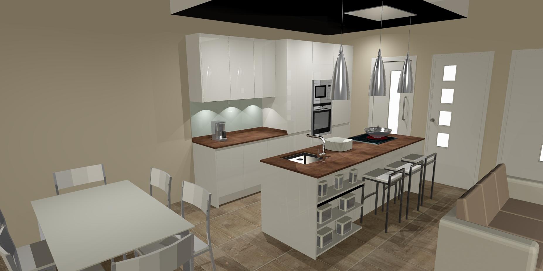 Cocinas con office fotos ideas para montar un office en - Cocinas con office fotos ...