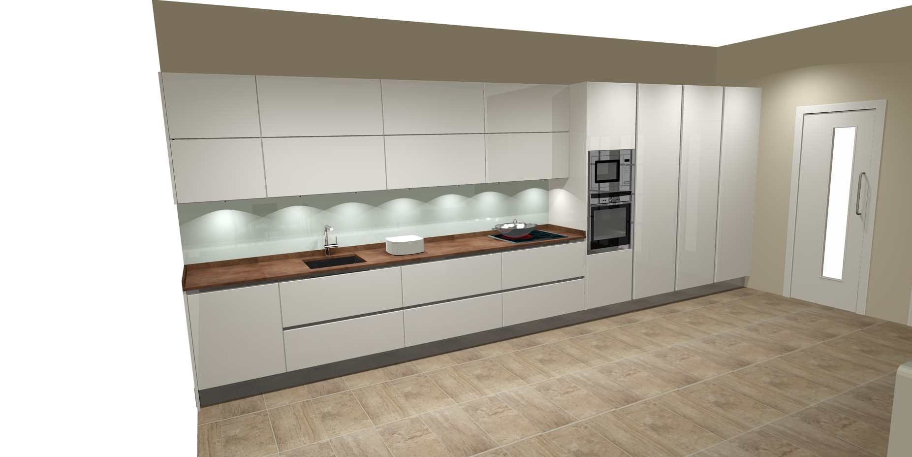 Dise os de cocinas lineales cocinas artnova sevilla - Exposicion de cocinas modernas ...