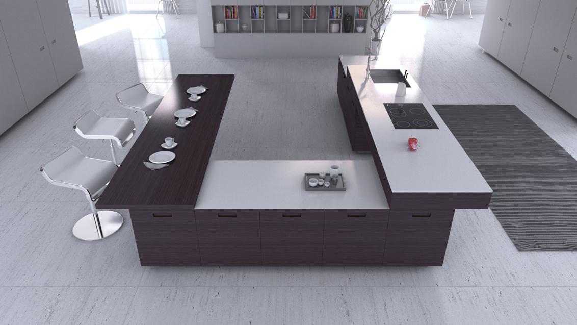 las cocinas minimalistas actuales quieren armonizar un espacio adecuado y en sintona a la nueva cocina en el terreno de la gastronoma - Cocina Minimalista